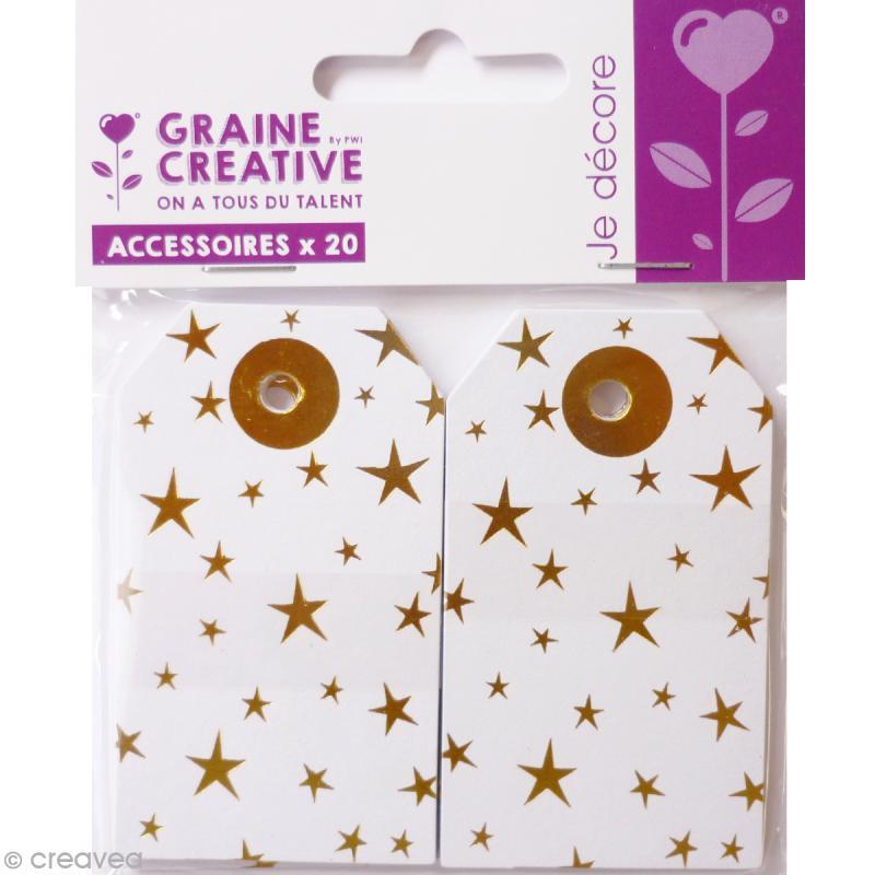 Etiquette cadeau en papier - Doré - 4,5 x 7,5 cm - 20 pcs - Photo n°1
