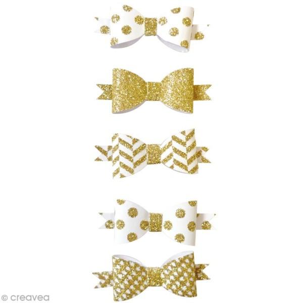 Die cuts Noeuds - Doré - 5,5 x 2 cm - 5 pcs - Photo n°2