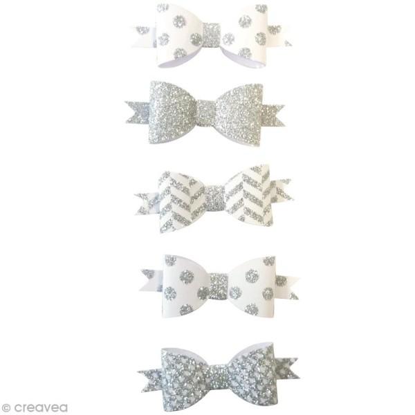 Die Cuts Noeuds - Argenté - 5,5 x 2 cm - 5 pcs - Photo n°2