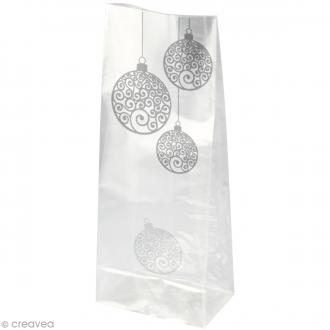 Kit Sachet cadeau Transparent Boules - 12 x 22 x 5 cm - 12 pcs