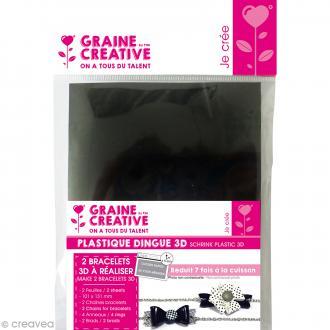 Kit plastique dingue - 2 Bracelets - Noir & Blanc
