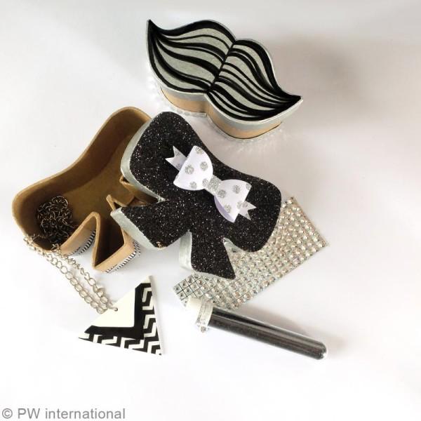 Petite boîte Moustache en papier mâché - 9 x 4,5 x 4 cm - Photo n°2