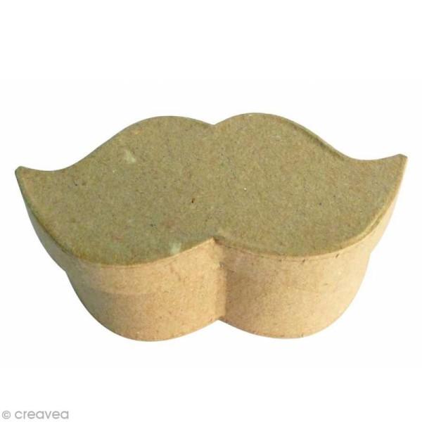 Petite boîte Moustache en papier mâché - 9 x 4,5 x 4 cm - Photo n°1