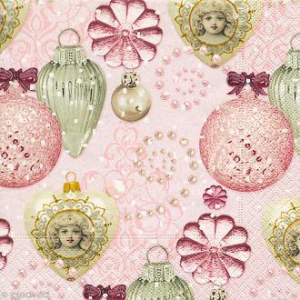 Serviette en papier - Noël - Pailleté