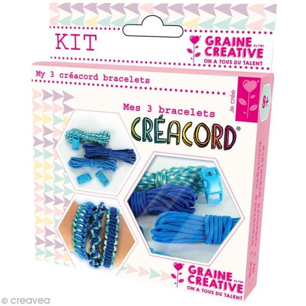 Kit Creacord - Océan - 3 bracelets - Photo n°1