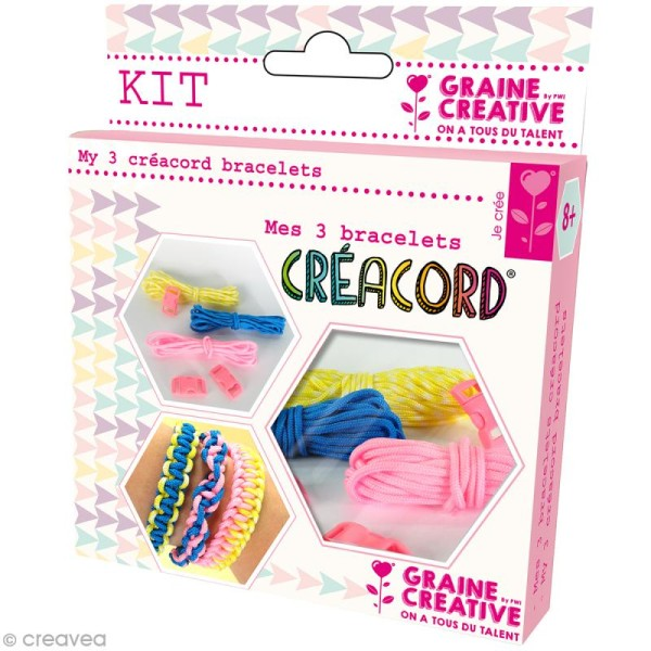 Kit Creacord - Rainbow - 3 bracelets - Photo n°1