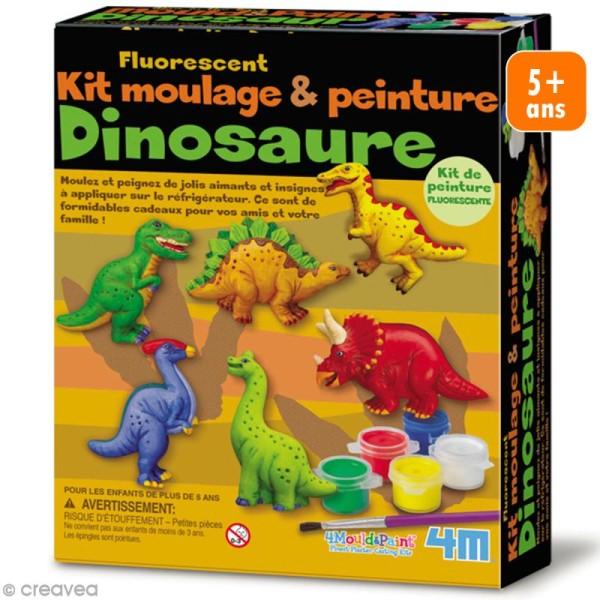 Kit moulage et peinture - Magnets Dinosaure - 6 pcs - Photo n°1