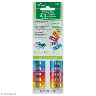 Pince Prodige Clover - Multicolore - 2,5 cm - 10 pcs