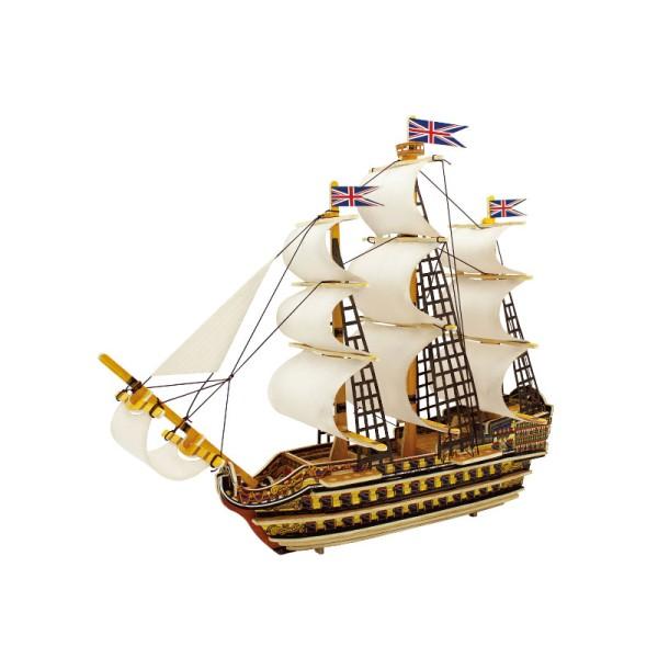 Navire Victory - kit en bois - 64 pièces à assembler - 37.5x14.5x28.5 cm - à partir de 6 ans 1759 - Photo n°1