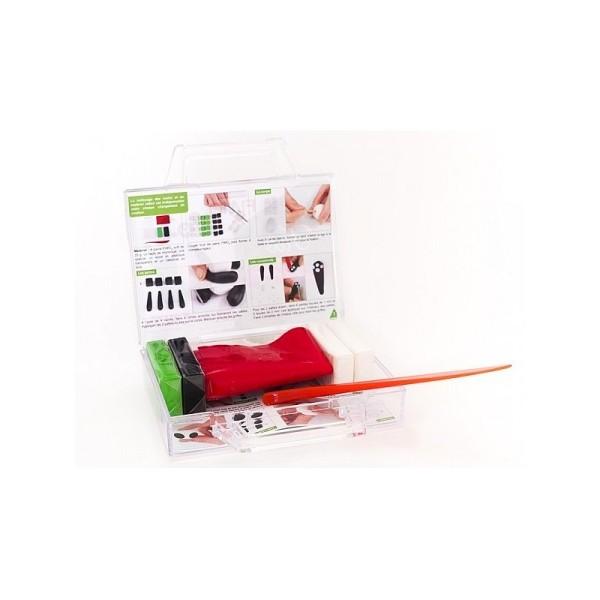 Kit figurine pâte Fimo, Tao Le Panda, 4 pains Fimo et accessoires, 6,5 cm de haut, animal à modeler - Photo n°3