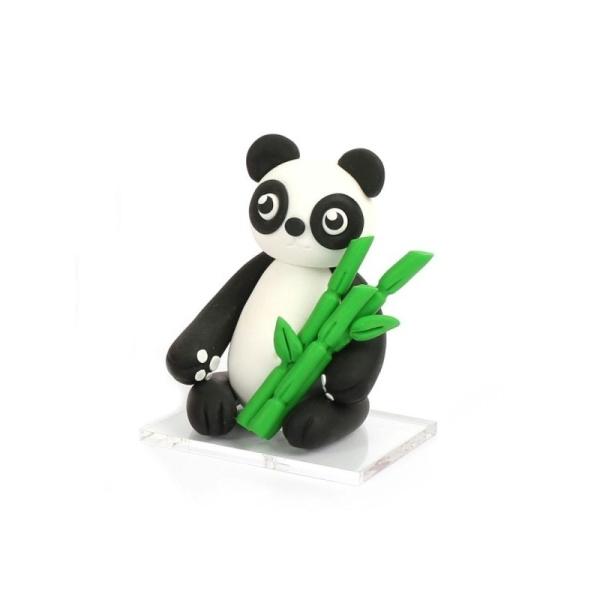 Kit figurine pâte Fimo, Tao Le Panda, 4 pains Fimo et accessoires, 6,5 cm de haut, animal à modeler - Photo n°4