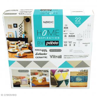 Kit peinture Home Inspiration Nordic by Pébéo - 22 pcs