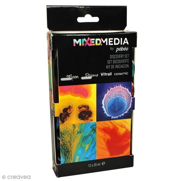 Set de peintures Mixed Media Pébéo - 12 x 20 ml - Photo n°1