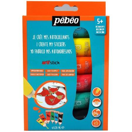 Coffret de peinture pour stickers Arti'stick Pébéo - 6 x 20 ml - Photo n°1