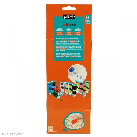 Coffret de peinture pour stickers Arti'stick Pébéo - 12 x 20 ml - Photo n°2