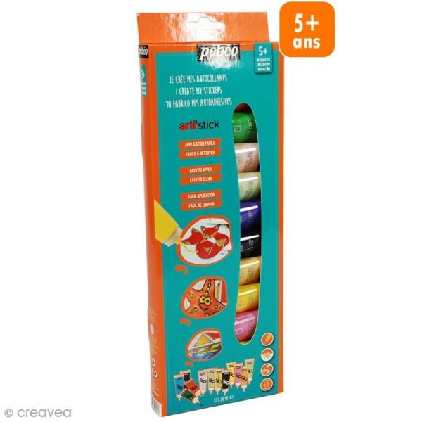Coffret de peinture pour stickers Arti'stick Pébéo - 12 x 20 ml - Photo n°1