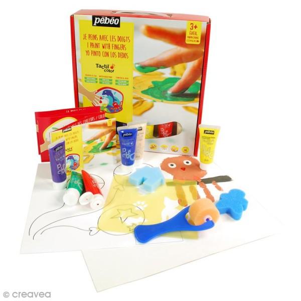 Kit de peinture aux doigts Pébéo - Prêt à l'emploi - 6 x 20 ml - Photo n°2