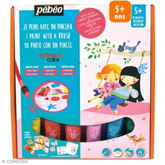 Kit de peinture Pébéo Prima Color Découverte - Fillettes - 6 x 20 ml