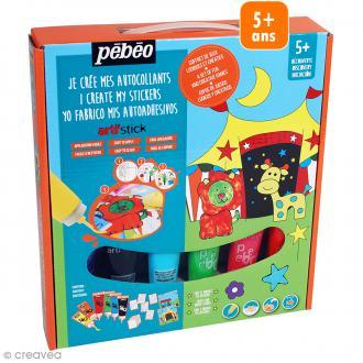 Kit de peinture pour stickers Arti'stick Pébéo Découverte - Cirque - 6 x 20 ml
