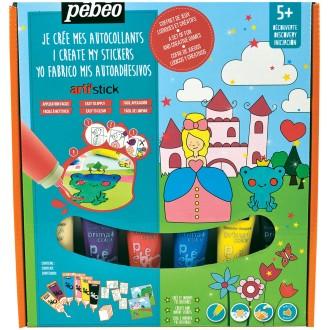 Kit de peinture pour stickers Arti'stick Pébéo Découverte - Princesse - 6 x 20 ml