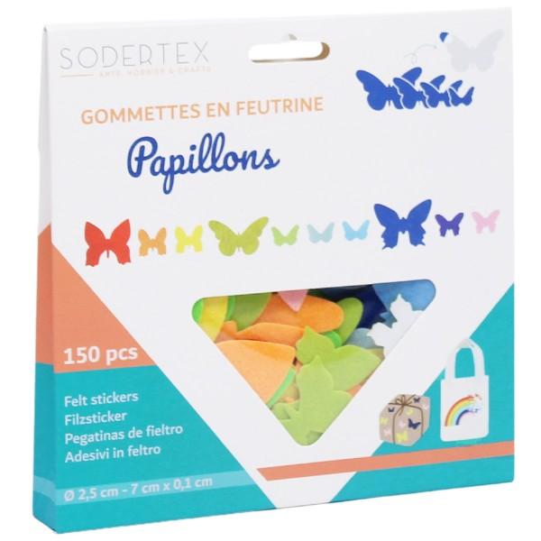 Formes en Feutrine adhésive - Papillons - 150 pcs - Photo n°3