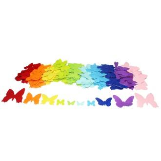 Formes en Feutrine adhésive - Papillons - 150 pcs