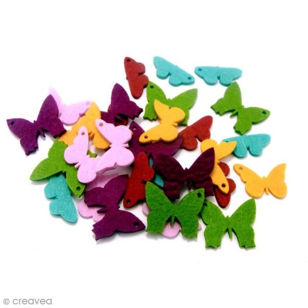 Formes en Feutrine - Papillons - 30 pcs - Photo n°2