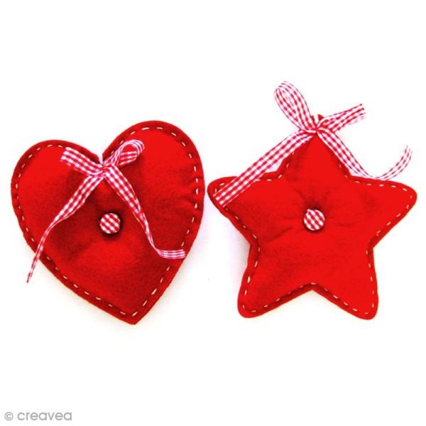 Kit de couture débutant - Coeur et étoile en feutrine - Photo n°2