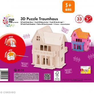 Puzzle en bois 3D Maison de rêve - 33 pièces