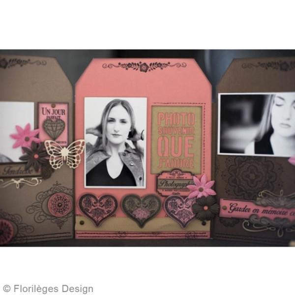 Tampon bois Coeur dentelle - 50 x 50 mm - Photo n°5