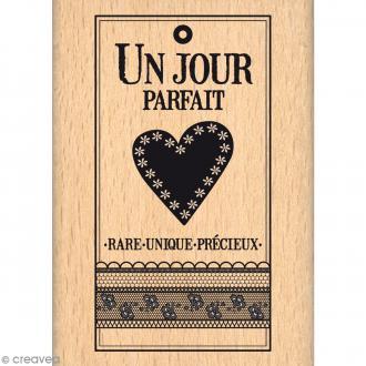 Tampon bois Rare unique précieux - 50 x 70 mm