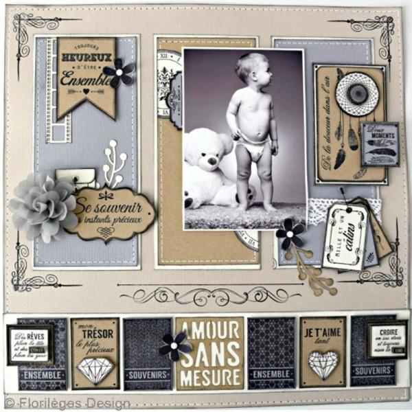 Tampon bois Précieuse étiquette - 60 x 80 mm - Photo n°2