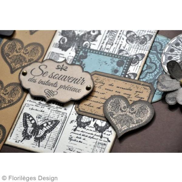 Tampon bois Précieuse étiquette - 60 x 80 mm - Photo n°4