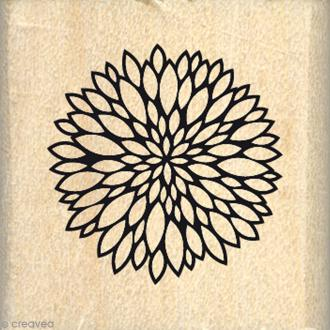 Tampon bois Jolie mini fleur - 30 x 30 mm