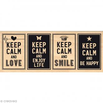 Tampon bois Keep Calm - 60 x 150 mm