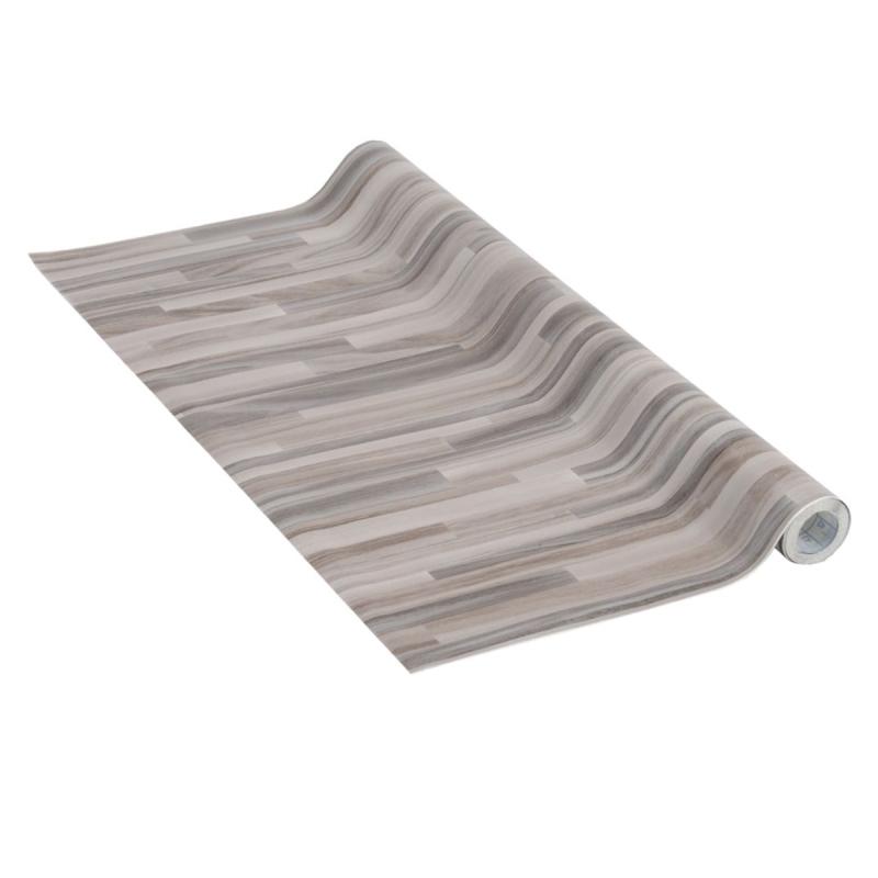 Adh sif venilia perfect bois lamell gris 200 x 45 cm for Rouleau autocollant miroir