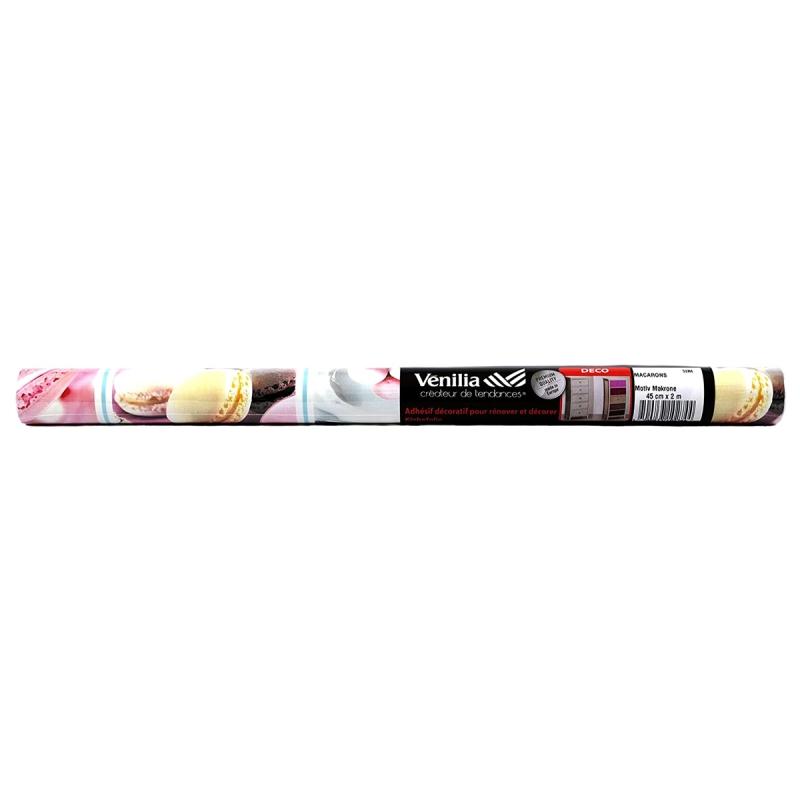 Adh sif venilia imprim macarons 200 x 45 cm adh sif d coratif d cor creavea - Papier adhesif venilia ...