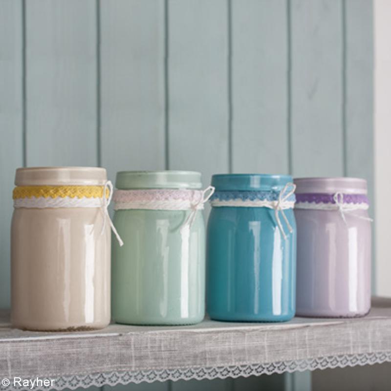 peintures chalky finish glass rayher pour verre 59 ml peinture effet craie creavea. Black Bedroom Furniture Sets. Home Design Ideas