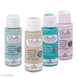 Peintures Chalky Finish Glass Rayher pour verre - 59 ml