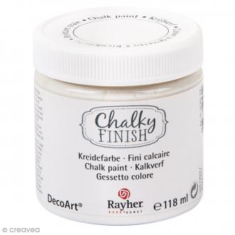 Peintures Chalky Finish Rayher - Blanc - 118 ml