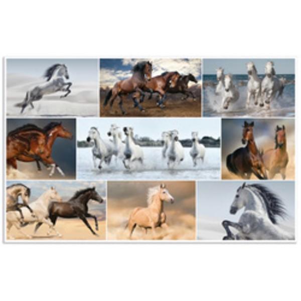 Sous-main chevaux (L)550 x (H)350 mm - Photo n°1