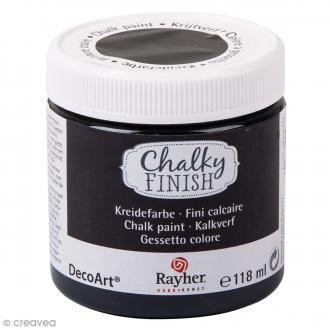 Peintures Chalky Finish Rayher - Noir bois d'ébène - 118 ml