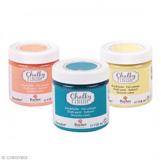 Peintures Chalky Finish Rayher - 118 ml