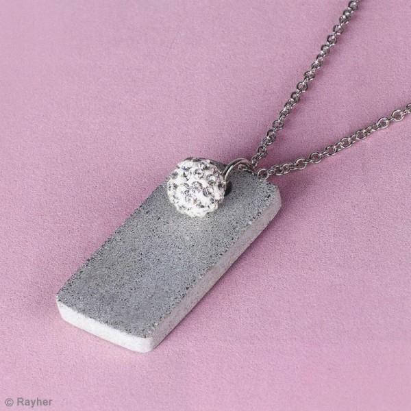 Moule à bijou pour béton Rayher - Rectangle - 1,9 x 3,9 cm - Photo n°2
