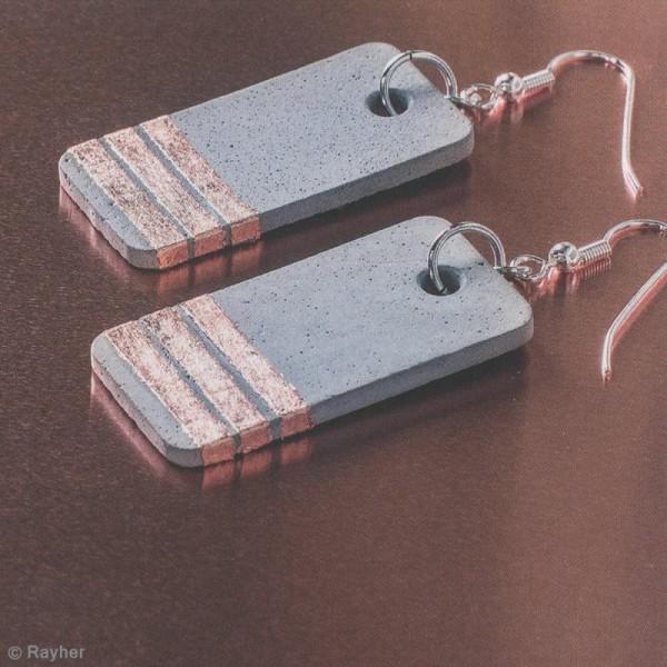 Moule à bijou pour béton Rayher - Rectangle - 1,9 x 3,9 cm - Photo n°3