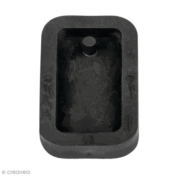 Moule à bijou pour béton Rayher - Rectangle - 1,9 x 3,9 cm - Photo n°1