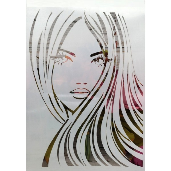 POCHOIR PLASTIQUE 30*21cm : girl (03) - Photo n°1