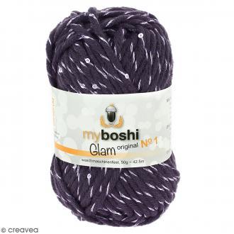 Laine à crocheter My Boshi Glam - Mars (Violet) - 50 g