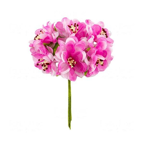 Bouquet de 6 fleurs en papier avec tige rose - Rose avec tige ...