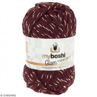 Laine à crocheter My Boshi Glam - Pluton (Bordeaux) - 50 g